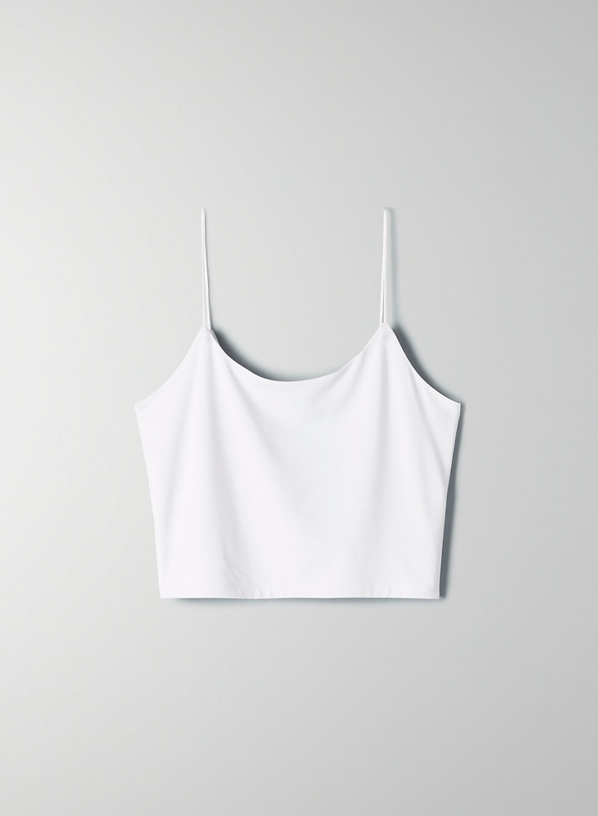 TINY TANK - Cropped, scoop-neck tank top