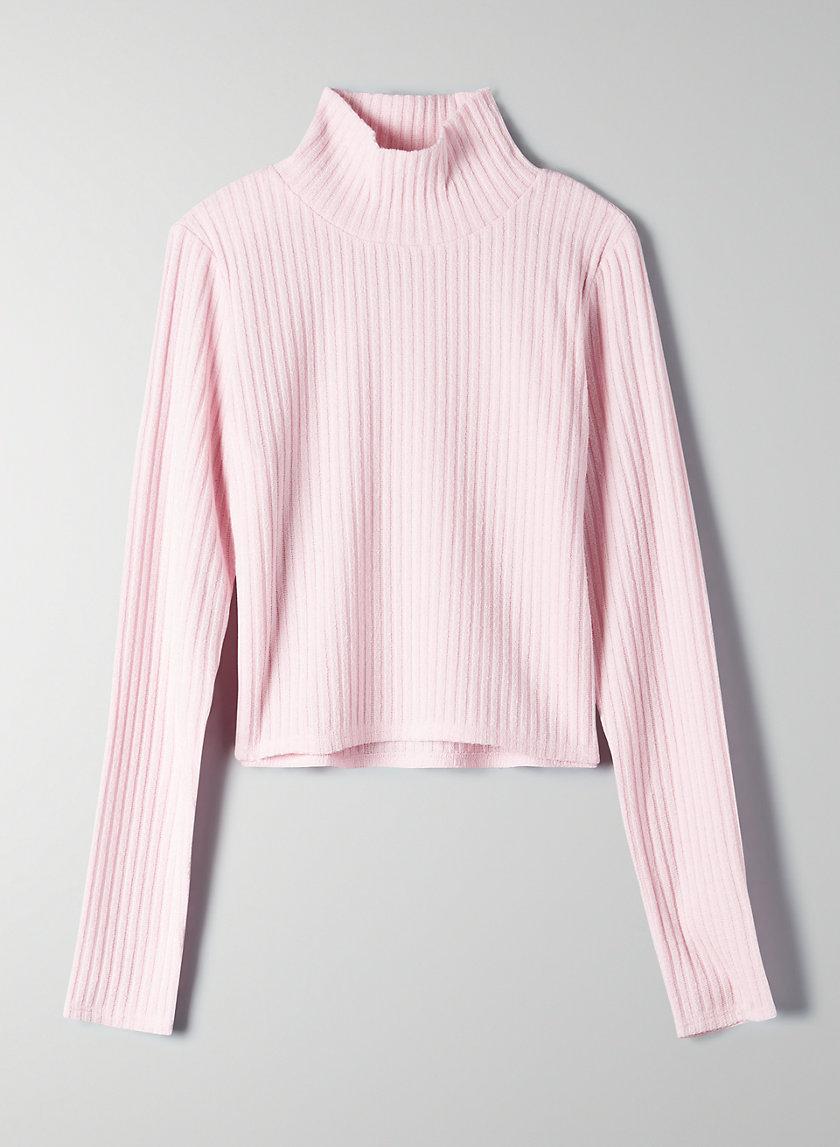 TAMU T-SHIRT - Cropped, ribbed turtleneck shirt