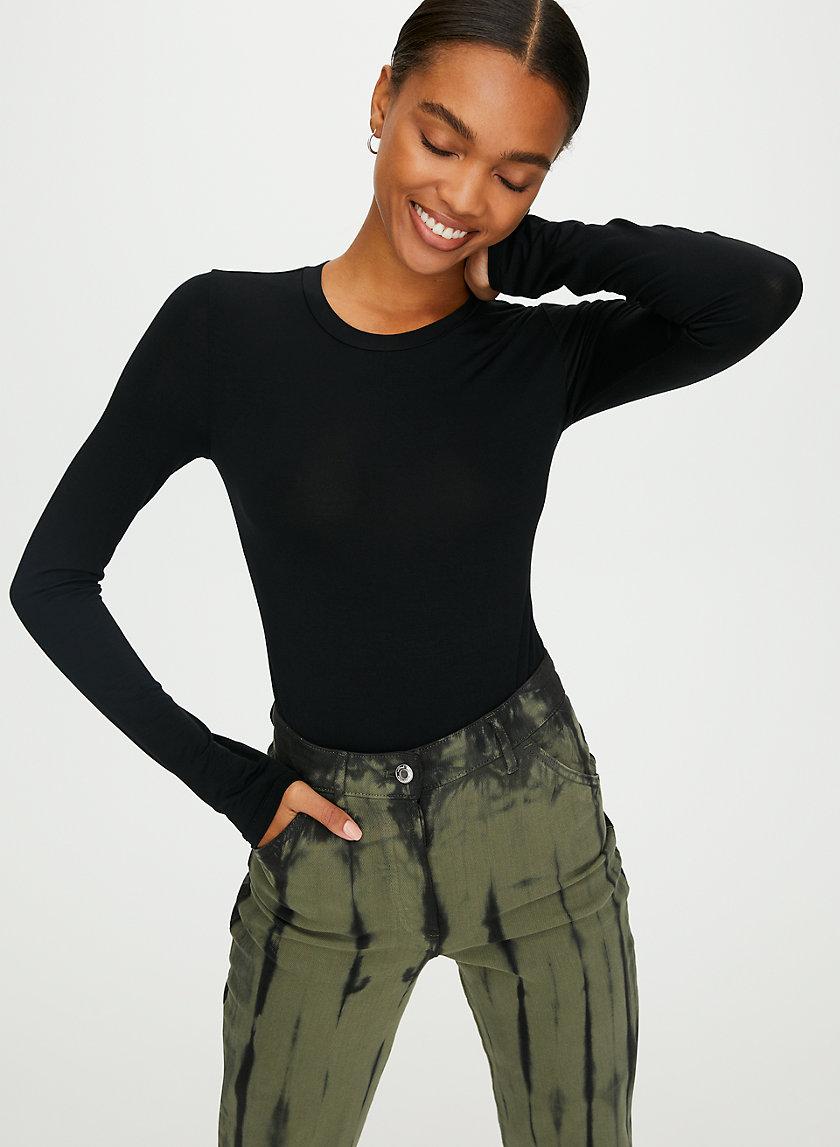 SOMER BODYSUIT - Long-sleeve, thong bodysuit