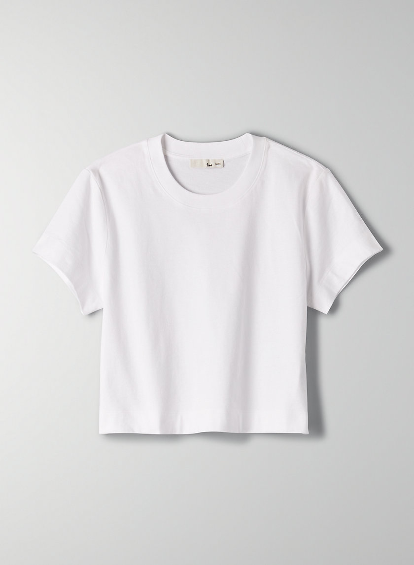 WEEKEND T-SHIRT - Cropped cotton t-shirt