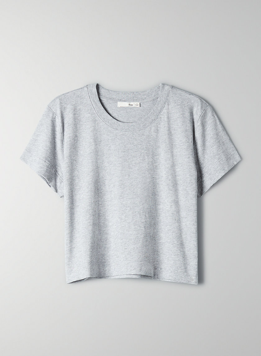WEEKEND T-SHIRT - Cropped cotton t-shirt