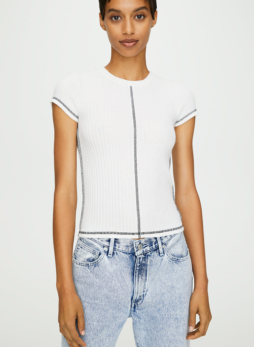 NALIA T-SHIRT - Exposed seams t-shirt
