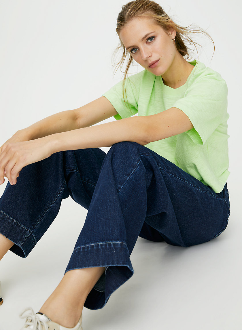 LENORA T-SHIRT - Cropped neon t-shirt
