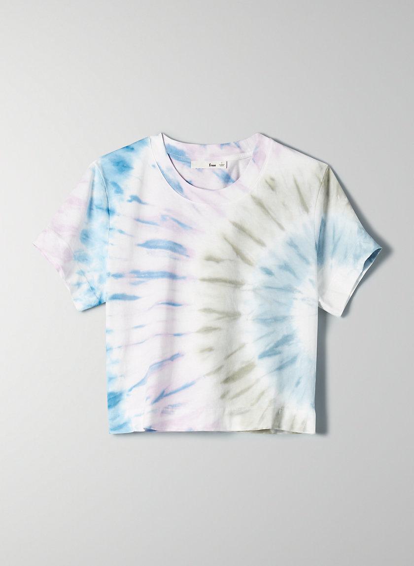 WEEKEND T-SHIRT - Cropped, tie-dye T-shirt