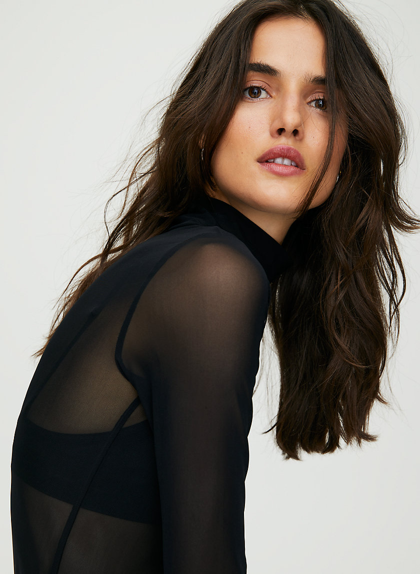 HUET T-SHIRT - Sheer turtleneck