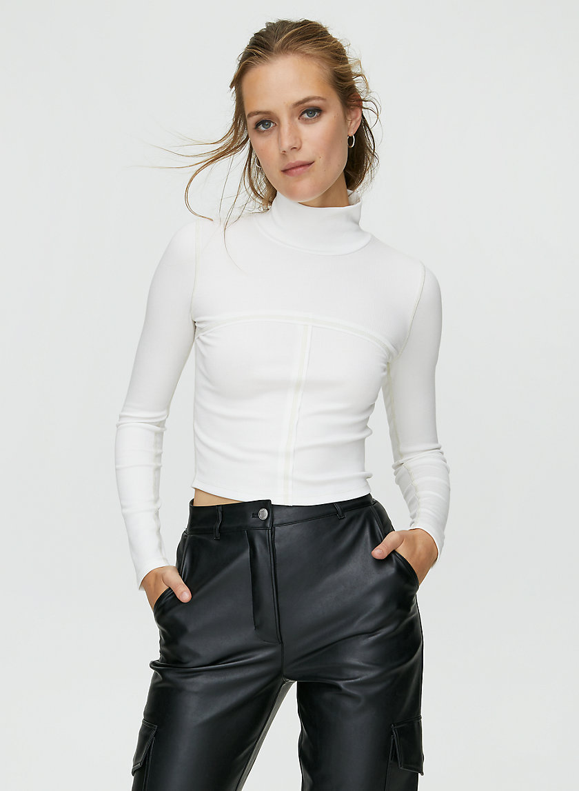 MOON TURTLENECK - Cropped bodycon turtleneck
