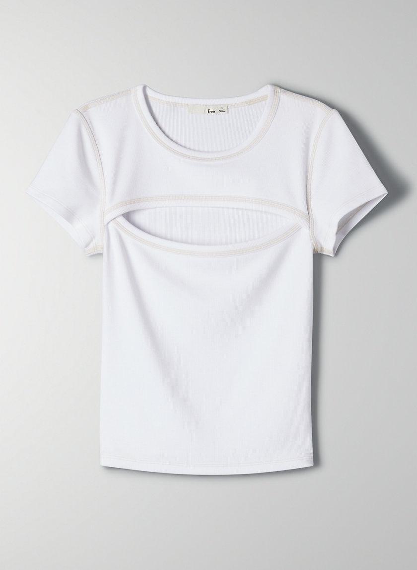 VERA T-SHIRT - Peek-a-boo bodycon t-shirt