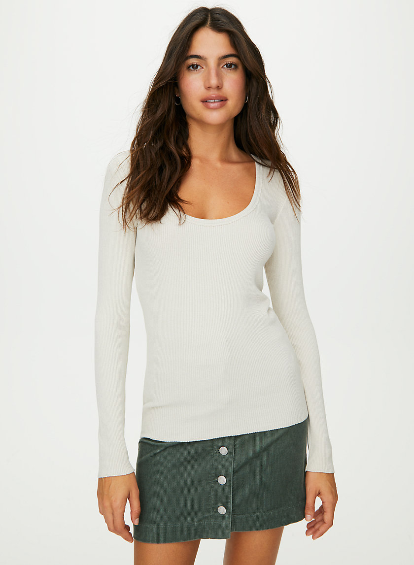 NOVA LONGSLEEVE - Long-sleeve, scoop-neck t-shirt