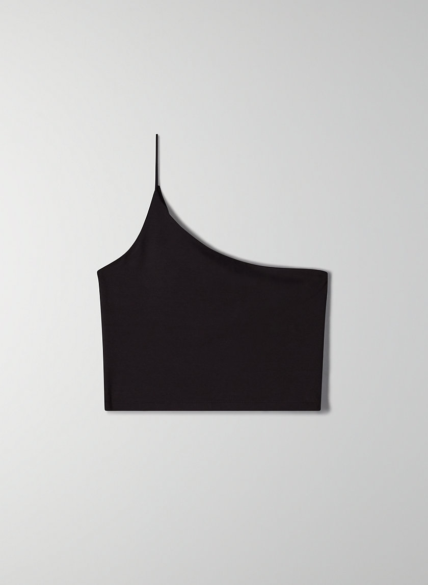 NICOLE TOP - One-shoulder crop top