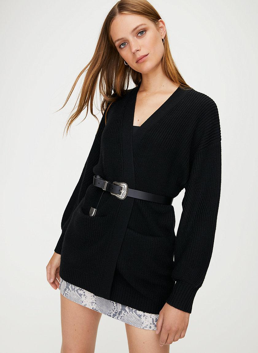 ROURKE SWEATER - Oversized, open-front cardigan