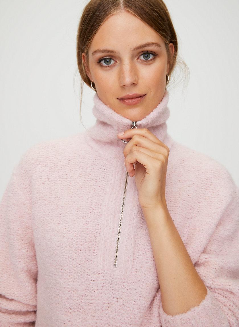 GWYNETH SWEATER - Alpaca-blend quarter-zip sweater