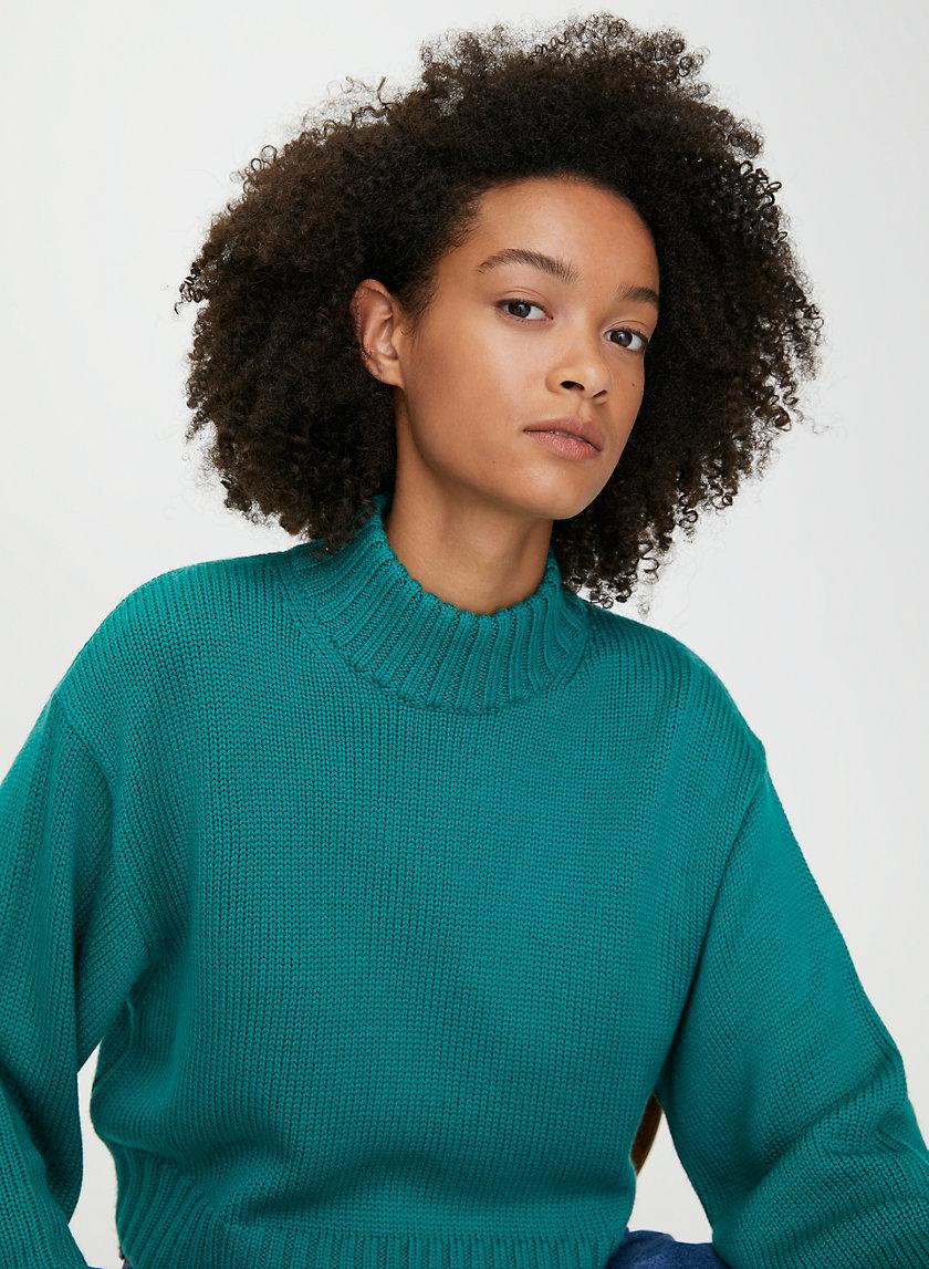 HEINEN SWEATER - Cropped, high-neck sweater