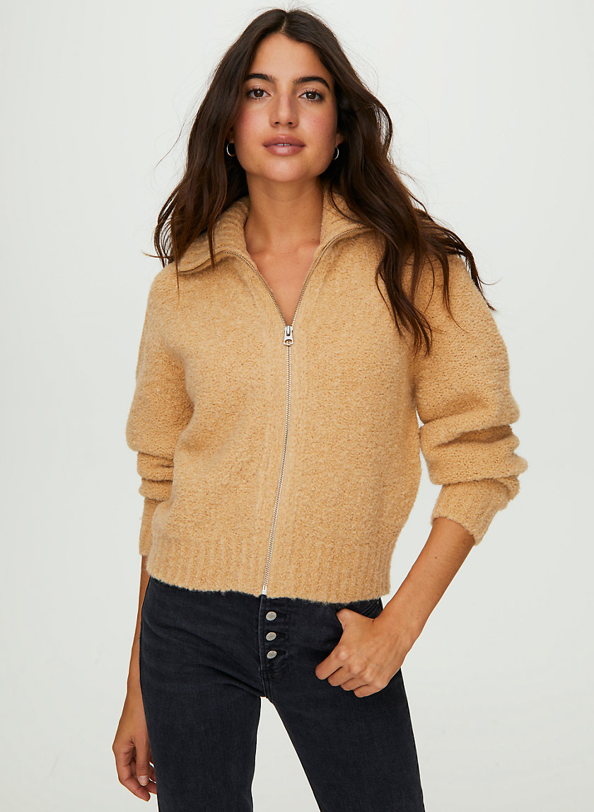MARILYN SWEATER - Alpaca-blend zip-up sweater