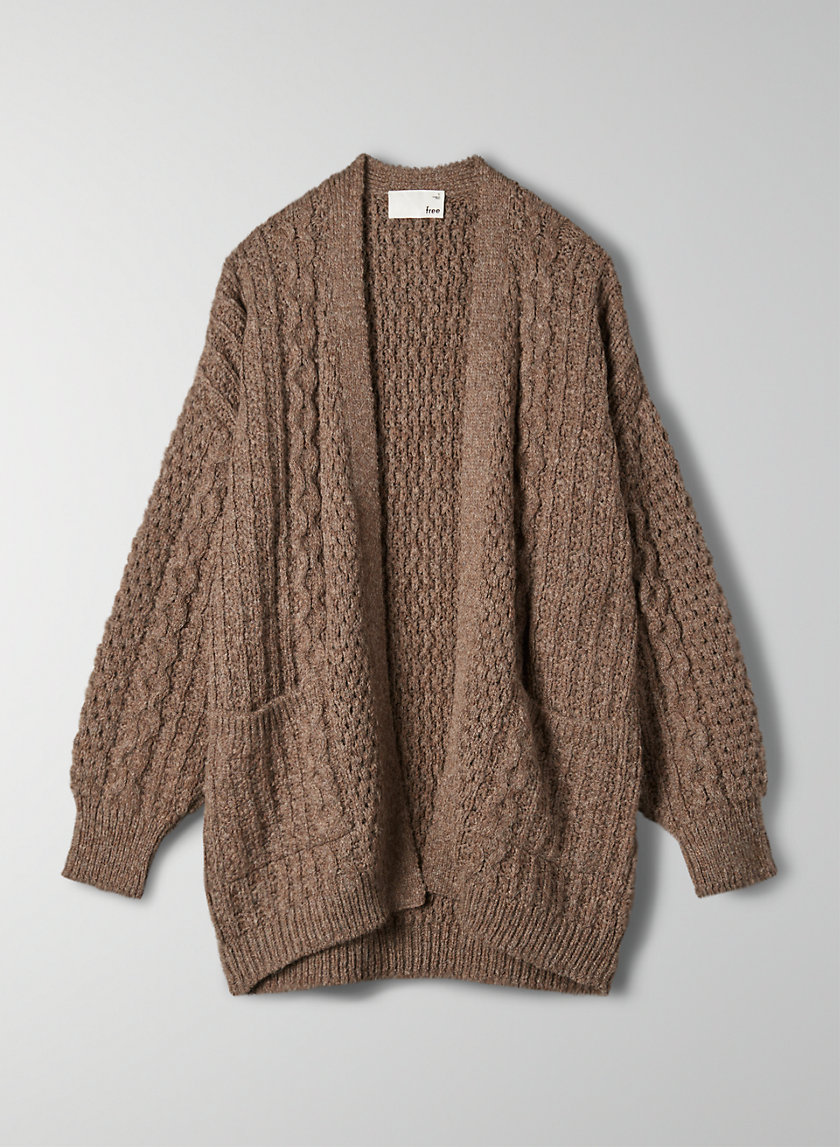 BRAYA CARDIGAN - Lightweight cable-knit cardigan