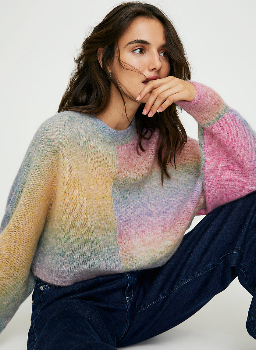 COSMIC SWEATER - Cropped rainbow sweater