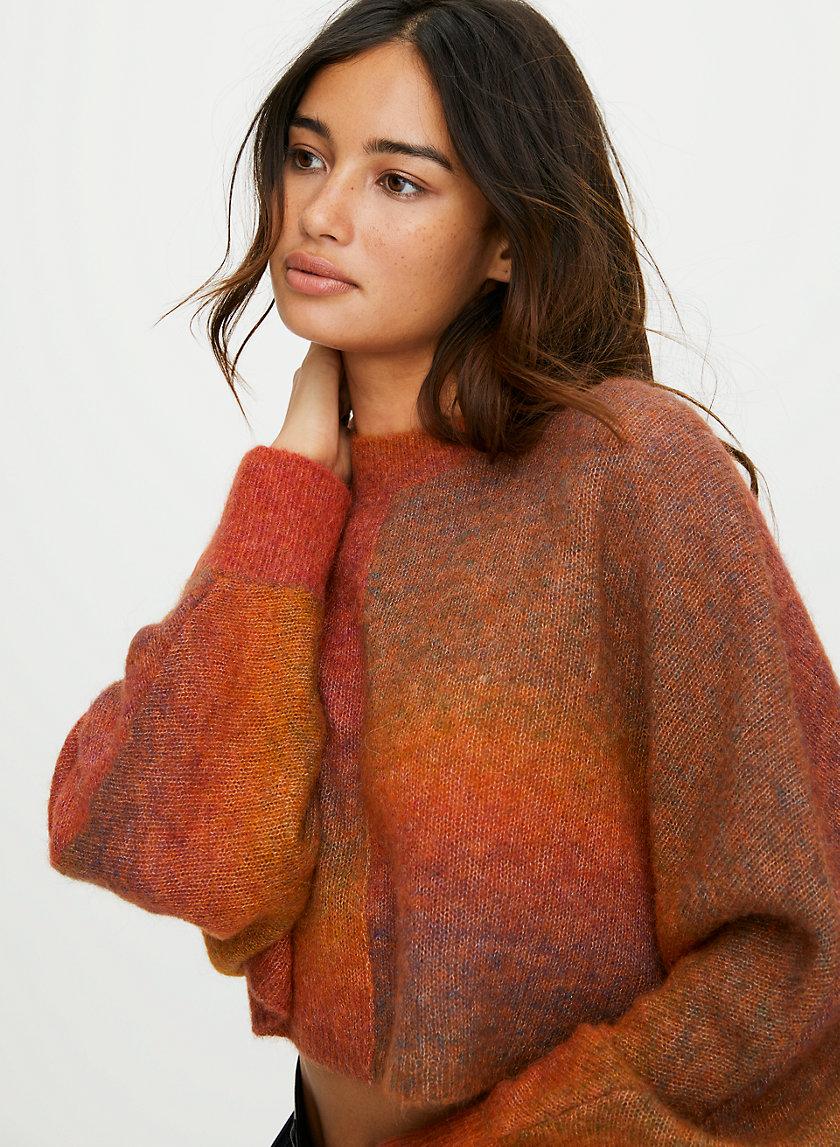 COSMIC SWEATER - Cropped rainbow sweater