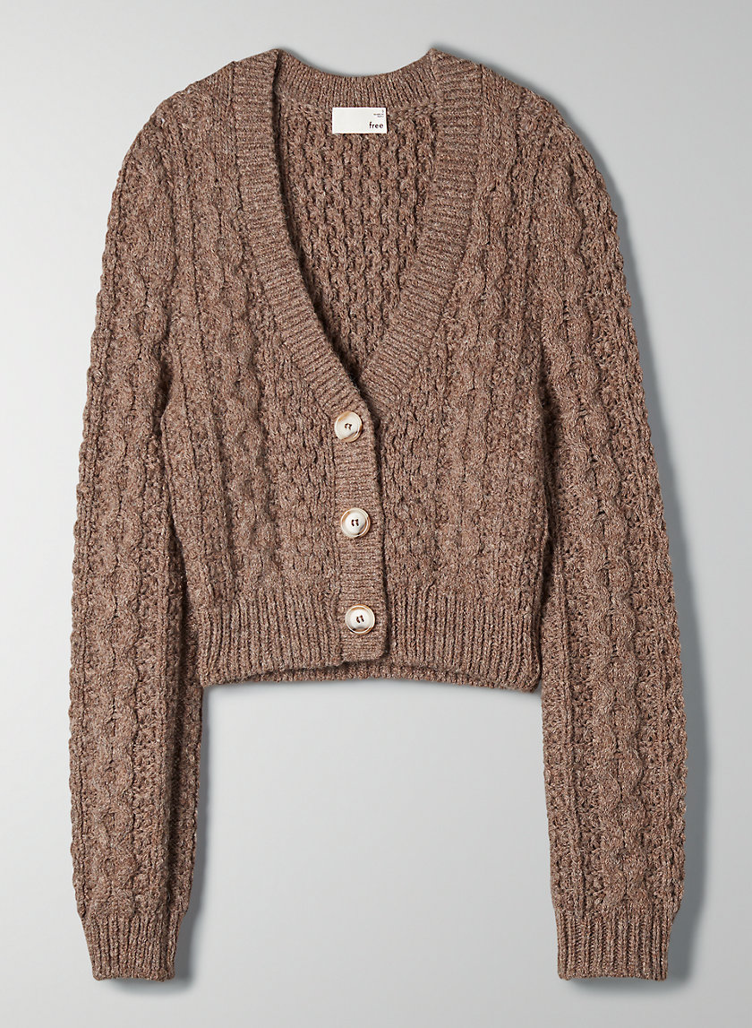 ADLEY SWEATER - Cropped V-neck cardigan
