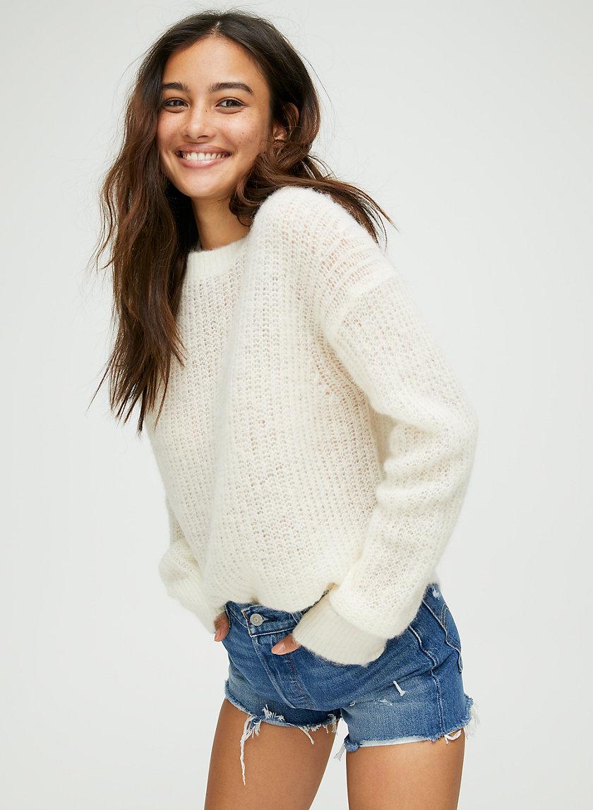 COSMIC CREW SWEATER - Relaxed crewneck alpaca sweater