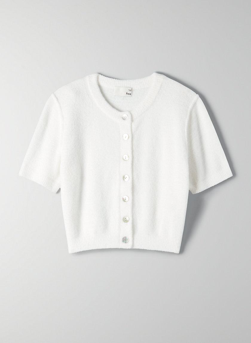 SHRUNKEN CARDIGAN - Cropped short-sleeve cardigan