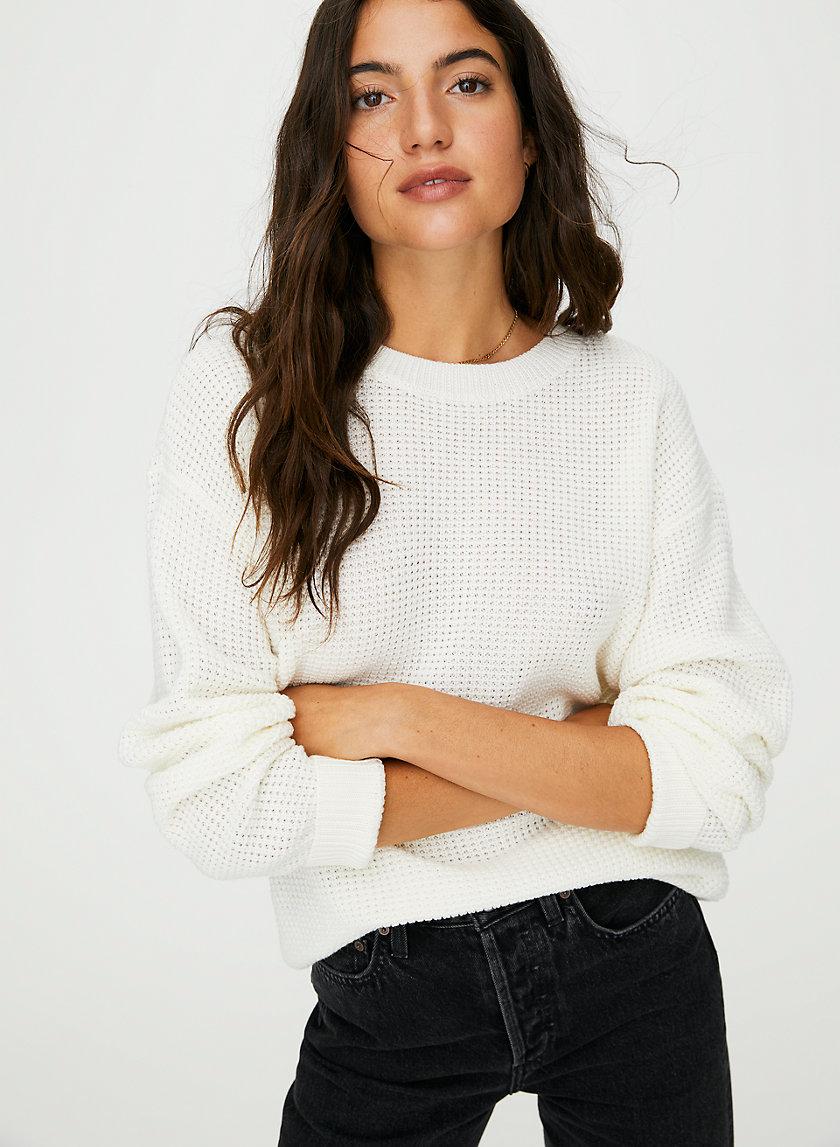 ISABELLI SWEATER - Waffle-knit crewneck sweater