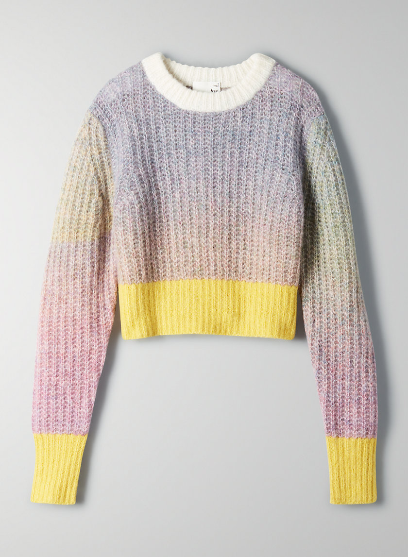 LANEY SWEATER - Cropped long-sleeve sweater