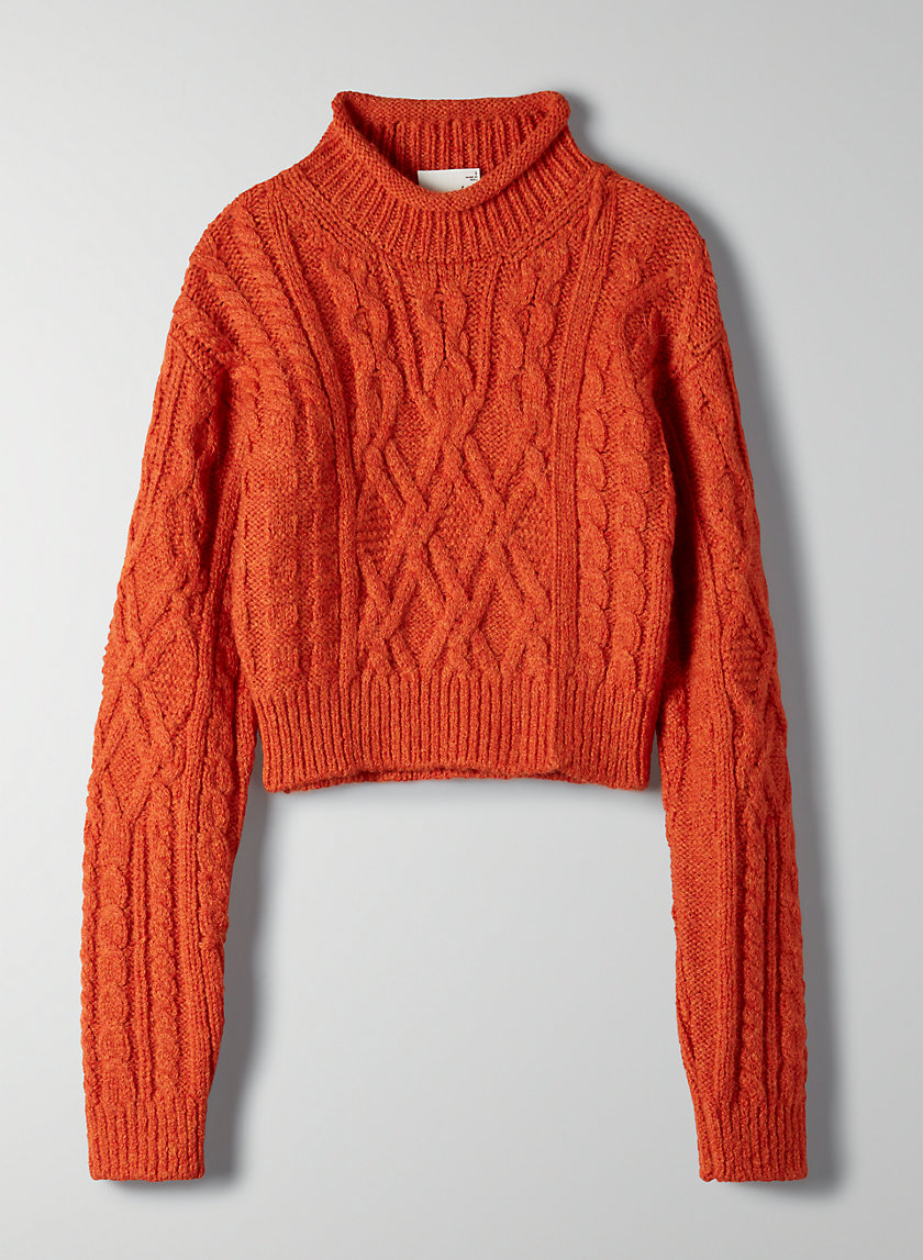 ANNIKA SWEATER - Cropped cable-knit sweater