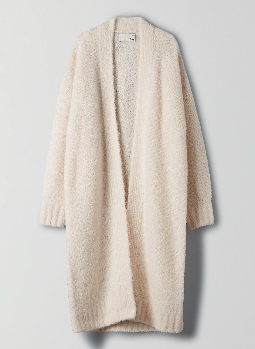 AMORA CARDIGAN - Alpaca-blend long cardigan
