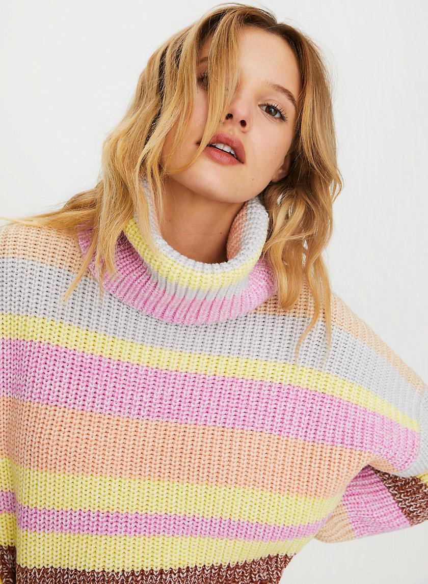 STELLAR WOOL SWEATER - Oversized turtleneck sweater