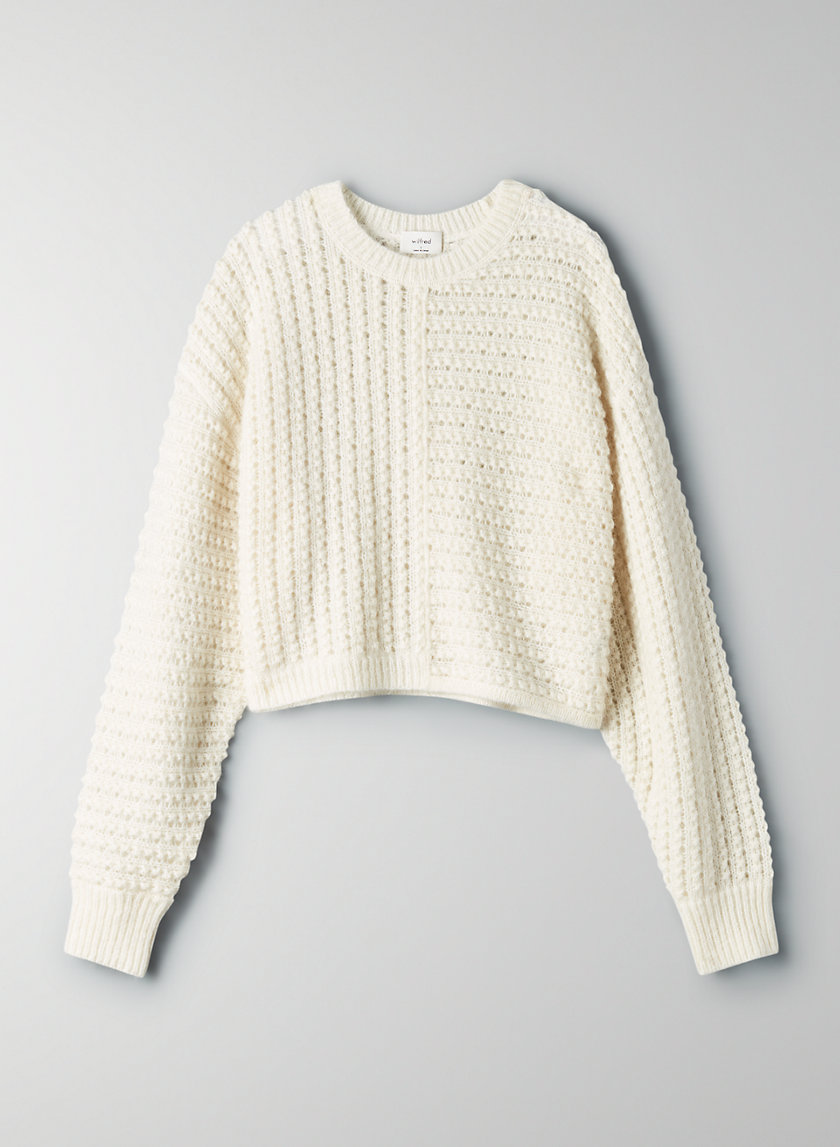 FORTUNE SWEATER - Cropped crewneck sweater