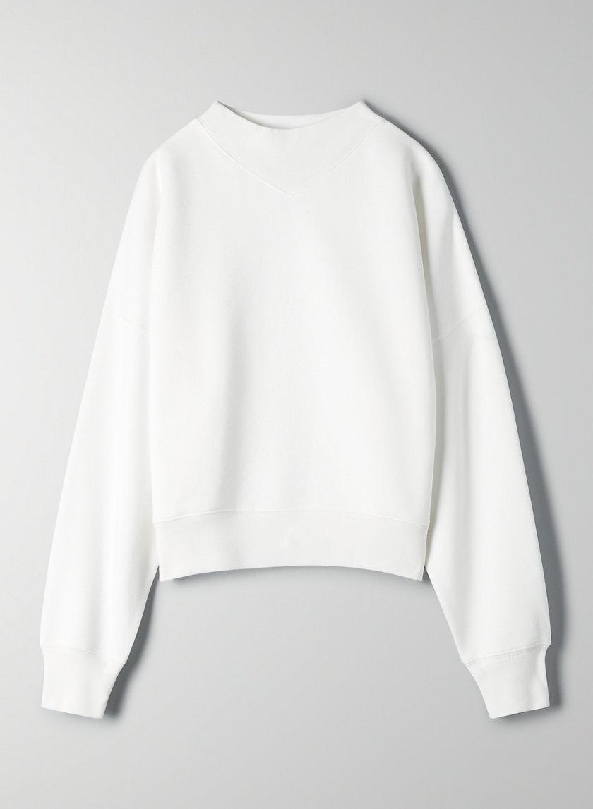 KATY SWEATER - Cropped mock-neck sweater