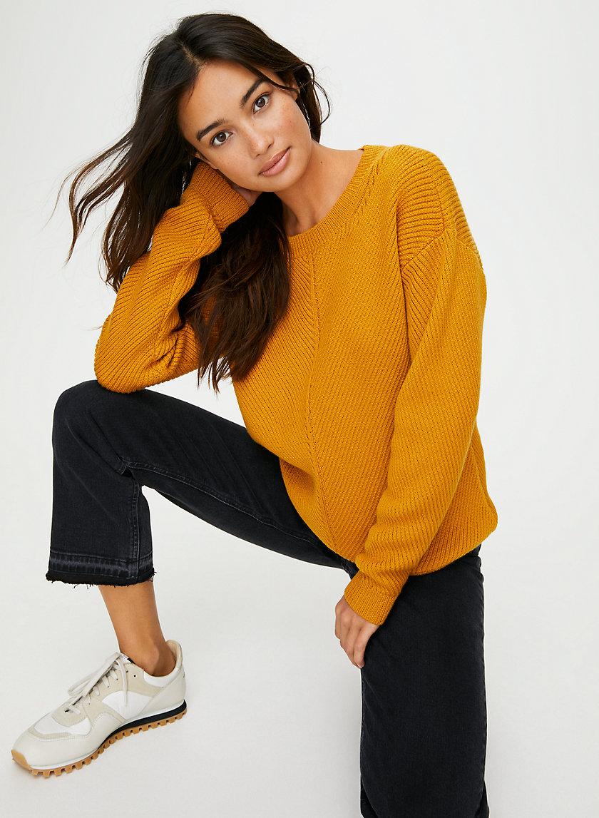 ISABELLI SWEATER - Chevron merino wool sweater