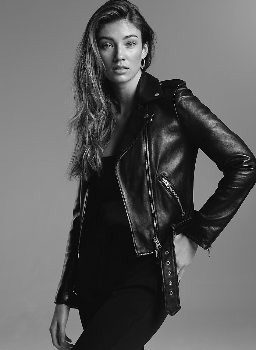 LENNON LEATHER BIKER - Leather moto jacket