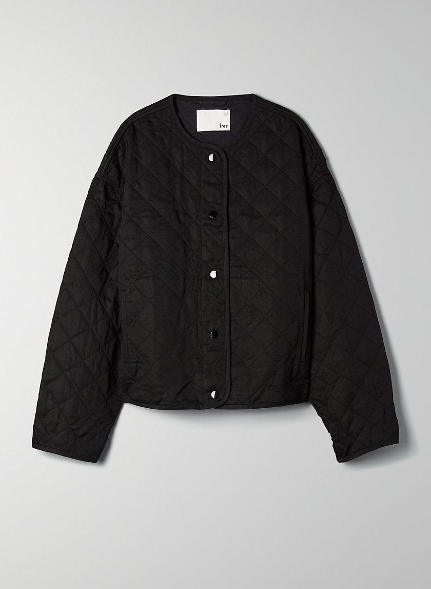 TIFFANY JACKET - Diamond-quilted bomber jacket