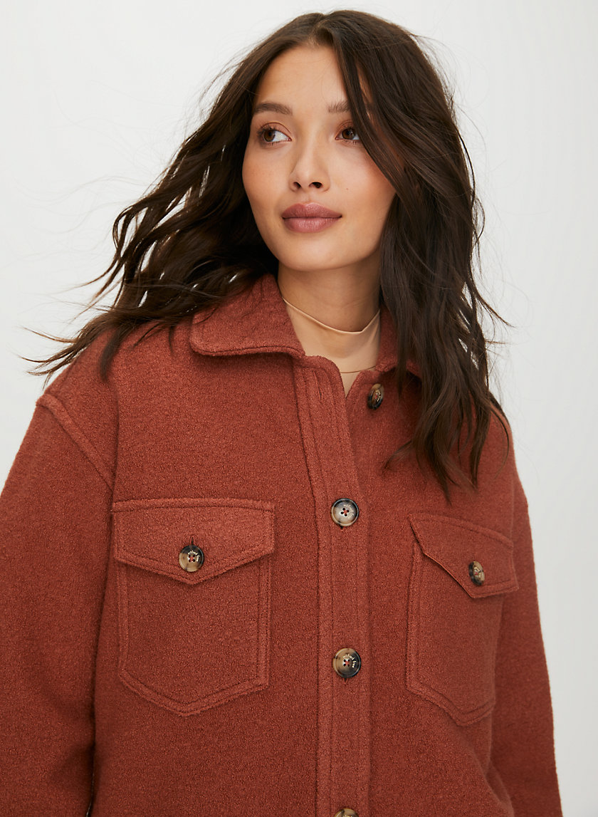 GANNA JACKET - Structured wool utility jacket