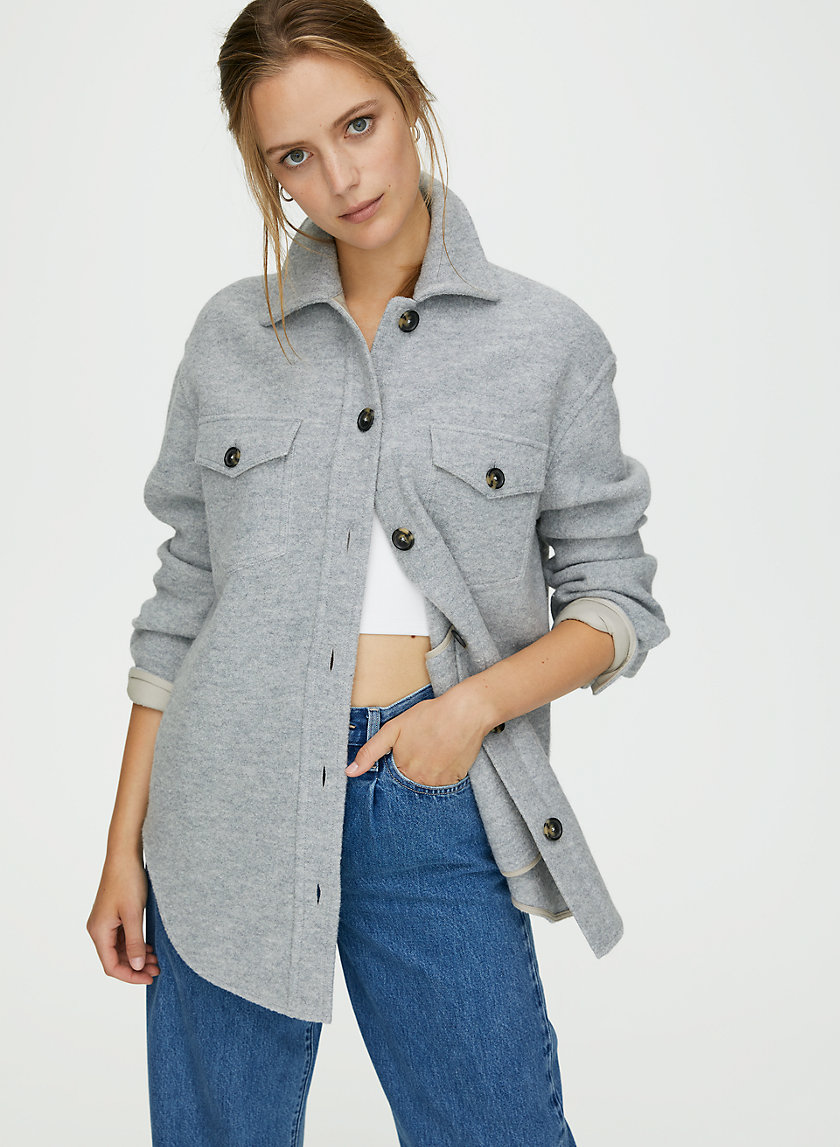GANNA JACKET - Structured wool utility jacket
