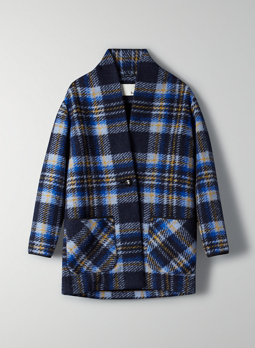 OFF-DUTY JACKET - Plaid cocoon jacket