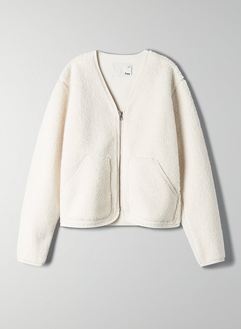 SHORT SHERPA LINER JACKET - Sherpa sweater jacket