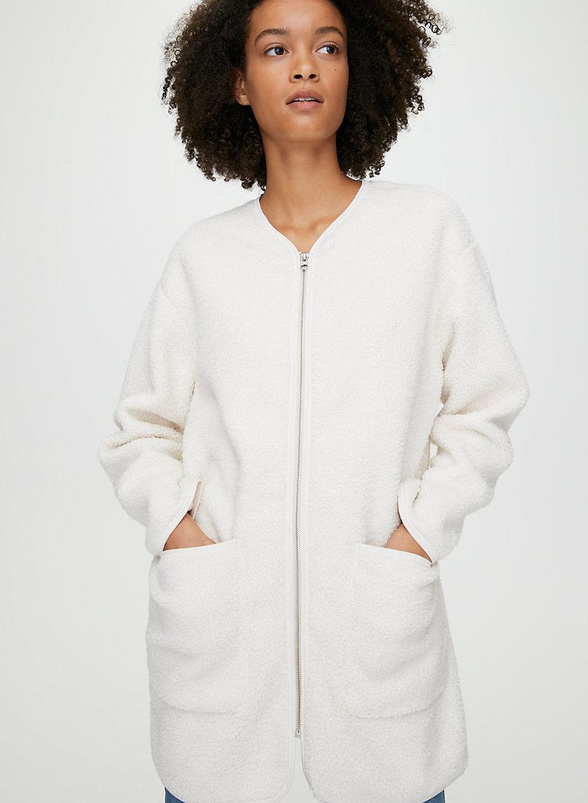 LONG SHERPA LINER JACKET - Sherpa sweater jacket