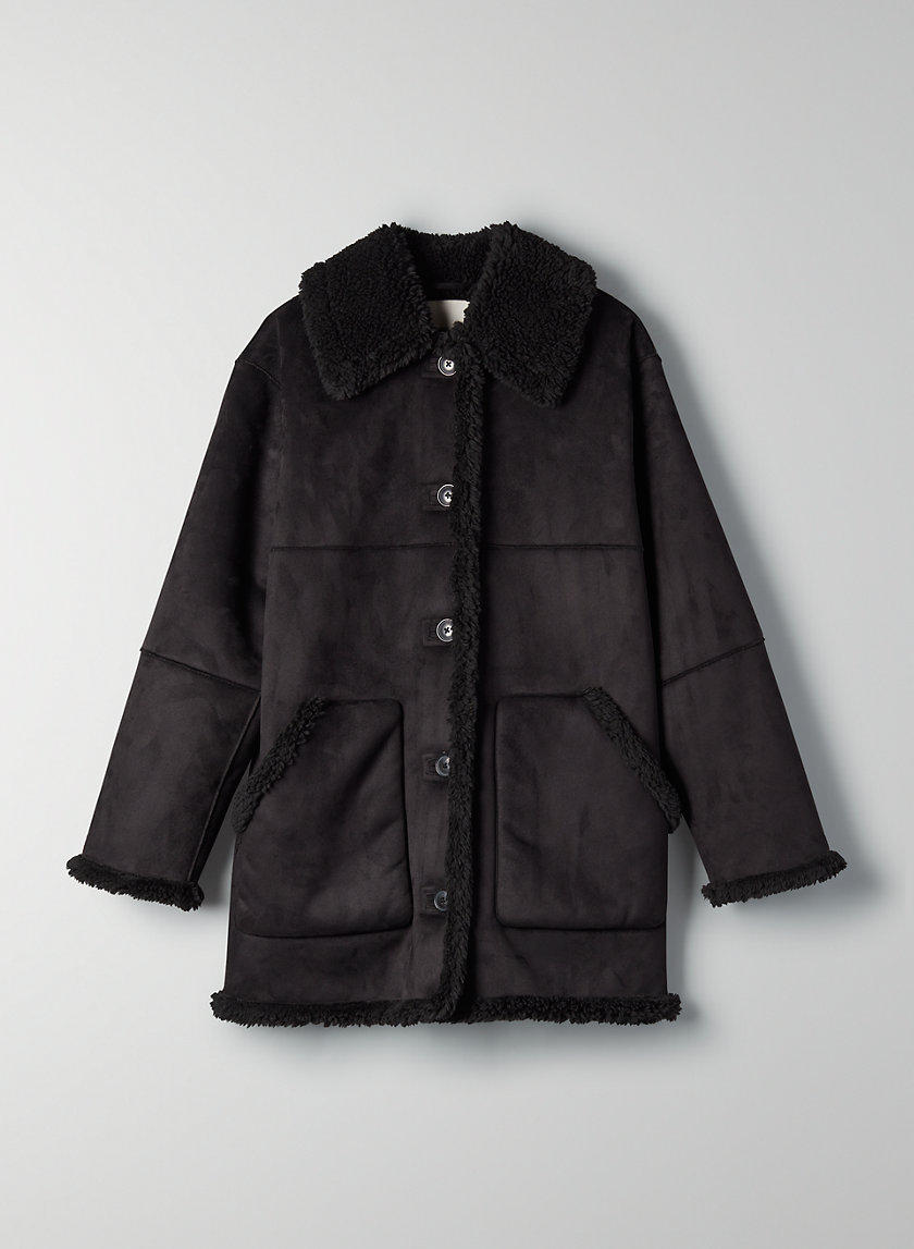 CATRINA SHERPA JACKET - Button-front sherpa jacket