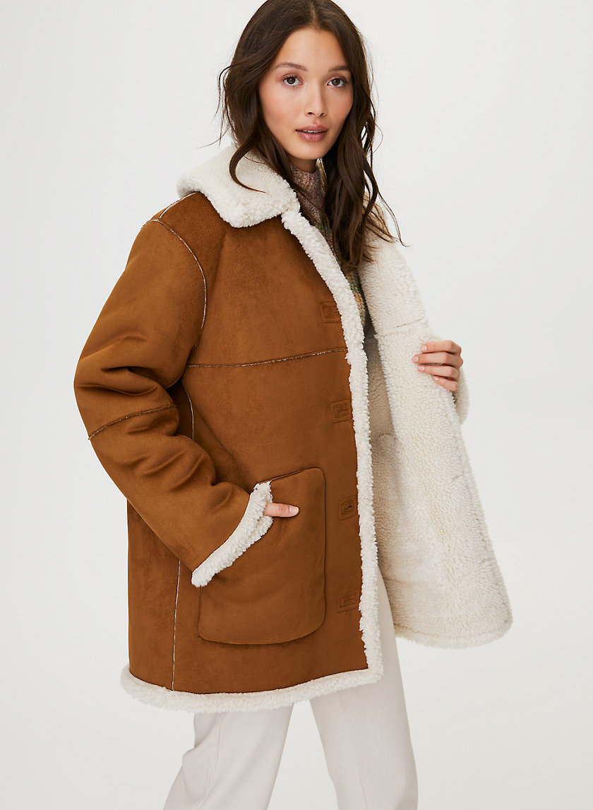 CATRINA SHERPA JACKET - Button-front sherpa jacket