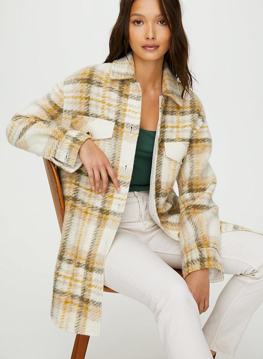 GANNA JACKET - Plaid wool utility jacket