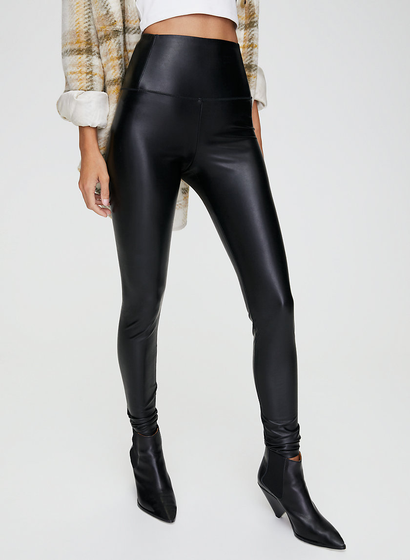 DARIA PANT - Faux-leather legging