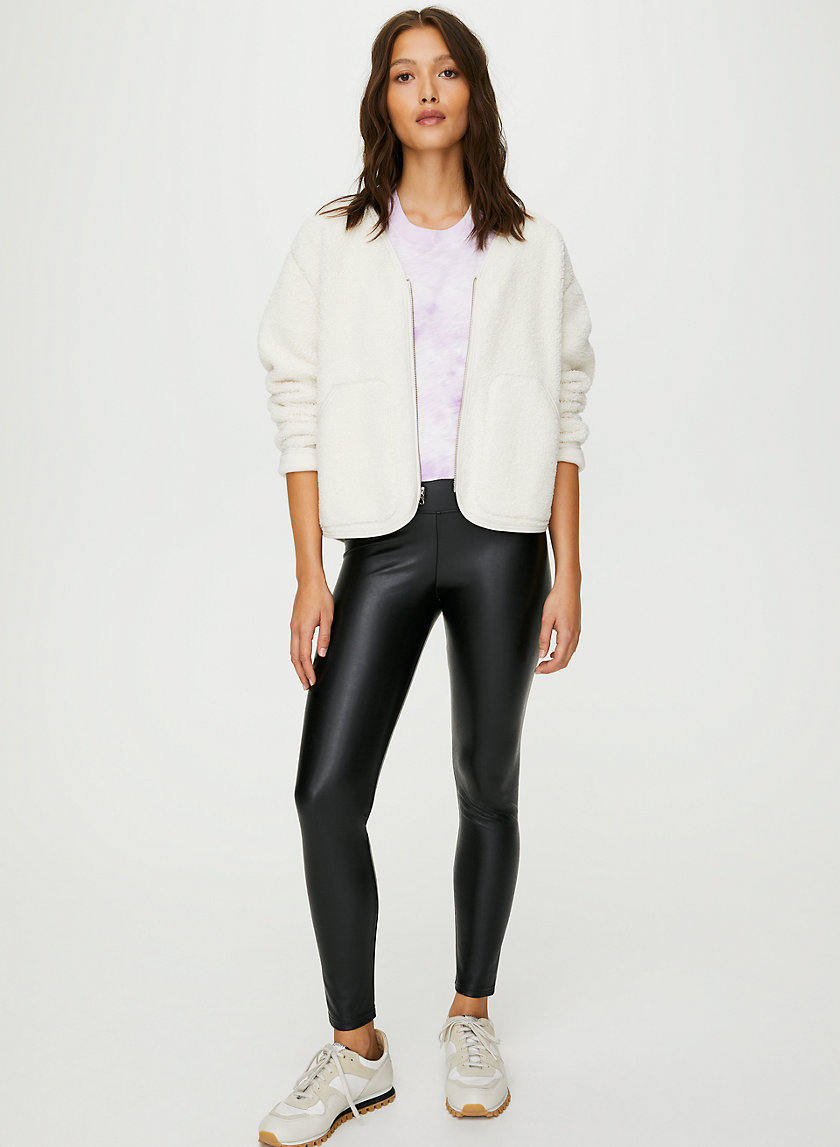 DARIA ANKLE PANT - Cropped, faux-leather legging