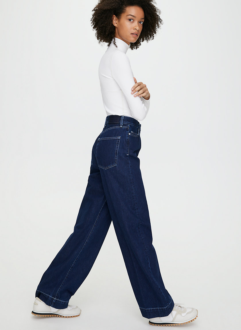 HARLOW JEAN - High-waisted wide-leg jean