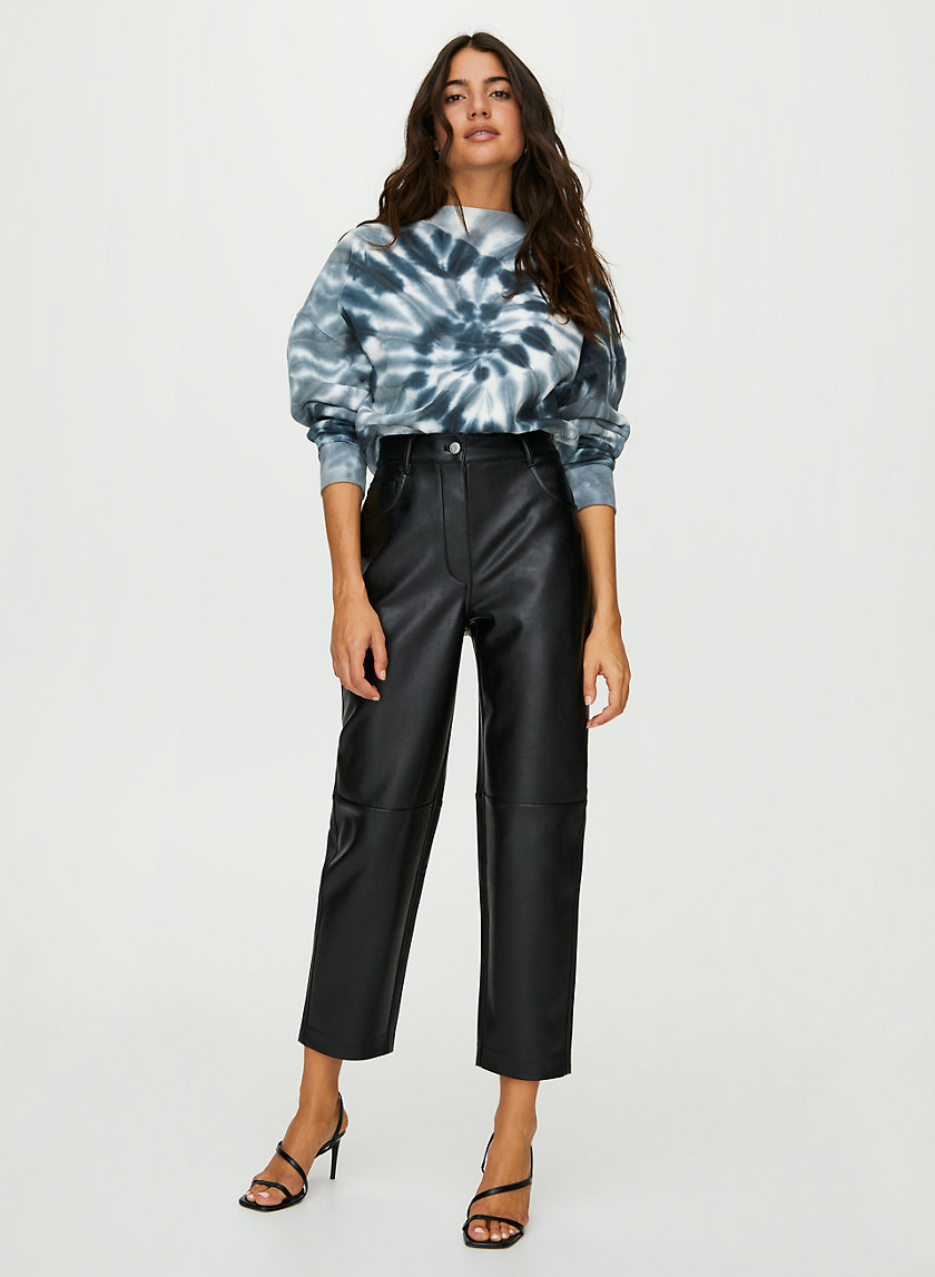 ORACLE PANT - Faux leather balloon pants
