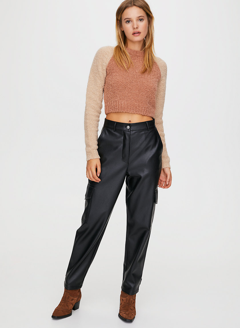 MODERN CARGO PANT - Faux-leather cargo pants