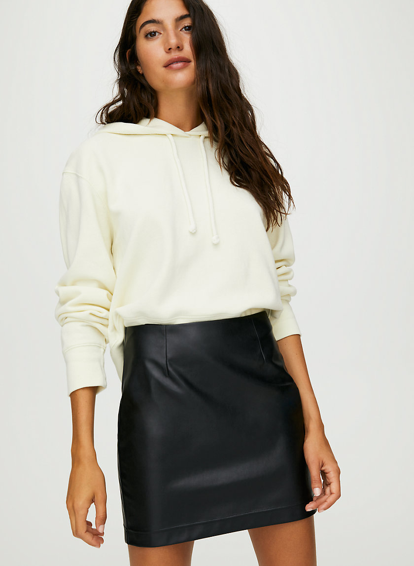 ORACLE SKIRT - Faux-leather mini-skirt