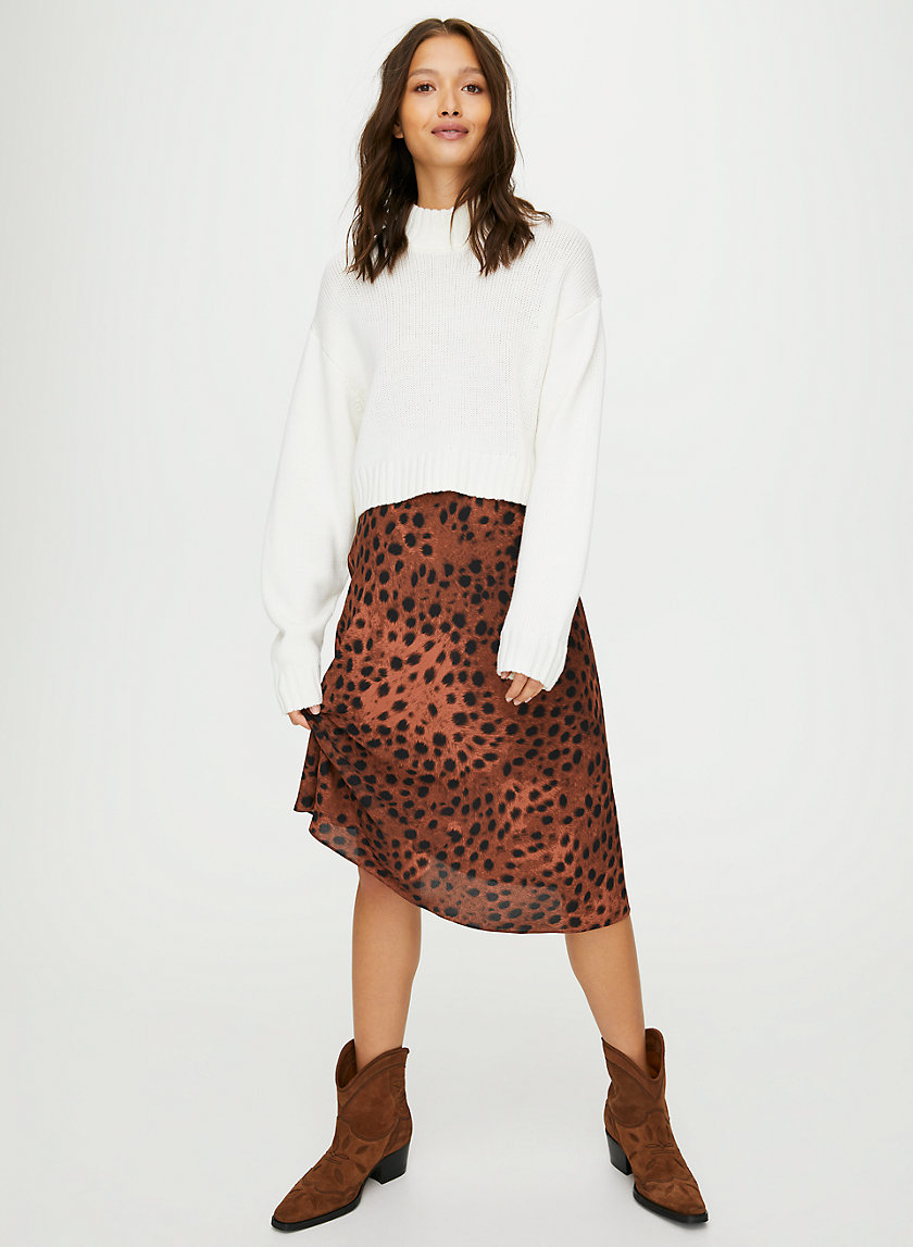 KYRA SKIRT - Animal-print slip skirt