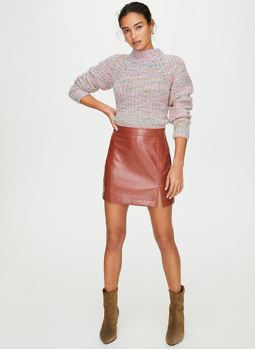 TEMPEST SKIRT - Vinyl mini skirt