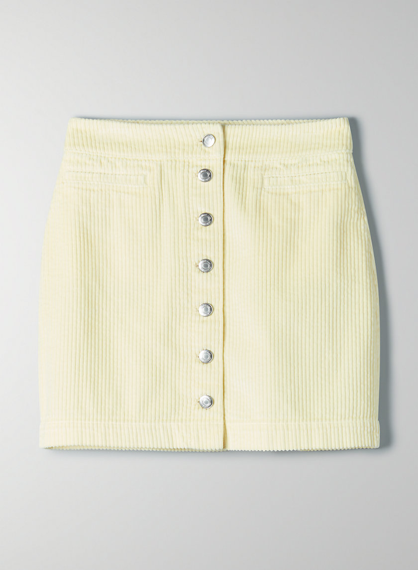 NEW BUTTON-FRONT MINI SKIRT - Corduroy mini-skirt